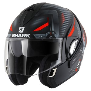 Shark Evoline Series 3 shazer sort rød sølv