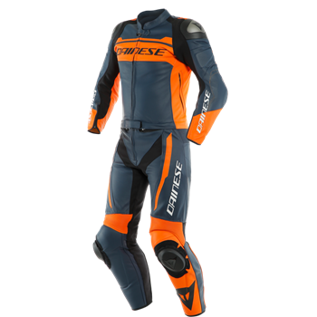 Dainese Mistel  2-delt skinndress iris sort/blå/orange